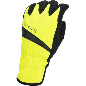 Sealskinz Waterproof All Weather Pyöräilyhanskat, neon yellow/black